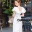 เดรสเกาหลี พร้อมส่ง Maxi dress คอวี thumbnail 3