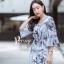เดรสเกาหลี พร้อมส่ง Dress.พิมพ์ลายผ่าปลาย thumbnail 6