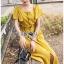 เสื้อผ้าเกาหลี พร้อมส่ง เสื้อคร็อปสั้นและกระโปรงสีเหลือง thumbnail 9