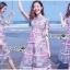 เดรสเกาหลี พร้อมส่ง เดรสผ้าลูกไม้ ลายปะการังสีพาสเทล thumbnail 2