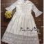 ชุดเดรสเกาหลี พร้อมส่ง เดรสผ้าลูกไม้ สีขาวปักลายดอกไม้ thumbnail 7