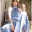 เสื้อผ้าเกาหลี พร้อมส่ง จัมป์สูท ผ้าพลีตสีน้ำเงิน thumbnail 5