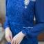 ชุดเดรสเกาหลี พร้อมส่ง Dress ลูกไม้แขนชีฟอง thumbnail 12