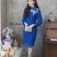 ชุดเดรสเกาหลี พร้อมส่ง Dress ลูกไม้แขนชีฟอง thumbnail 9