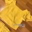 เสื้อผ้าเกาหลี พร้อมส่ง เสื้อคร็อปสั้นและกระโปรงสีเหลือง thumbnail 18