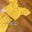 เสื้อผ้าเกาหลี พร้อมส่ง เสื้อคร็อปสั้นและกระโปรงสีเหลือง thumbnail 12