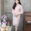 ชุดเดรสเกาหลี พร้อมส่ง Dress ลูกไม้แขนชีฟอง thumbnail 13