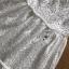 ชุดเดรสเกาหลี พร้อมส่ง เดรสผ้าคอตตอนสีขาวฉลุลาย thumbnail 13