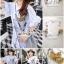 เดรสเกาหลี พร้อมส่ง มินิเดรส คอกลม แต่งรูปกวาง thumbnail 2