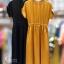 เดรสเกาหลี พร้อมส่ง Dress ผ้าซาติน thumbnail 14