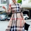พร้อมส่ง Long Dress Burberry ทรงแขน 5 ส่วน thumbnail 1