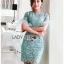 เดรสเกาหลี พร้อมส่ง เดรสผ้าลูกไม้ สีเขียวมิ้นท์อ่อน thumbnail 10