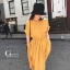 เดรสเกาหลี พร้อมส่ง Dress ผ้าซาติน thumbnail 3
