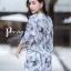 เดรสเกาหลี พร้อมส่ง Dress.พิมพ์ลายผ่าปลาย thumbnail 10