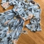เดรสเกาหลี พร้อมส่ง ชุดเดรส ผ้าชีฟองสีฟ้าพิมพ์ลายดอกไม้ thumbnail 11