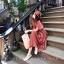 เดรสเกาหลี พร้อมส่ง Dress ผ้าซาติน thumbnail 4