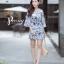 เดรสเกาหลี พร้อมส่ง Dress.พิมพ์ลายผ่าปลาย thumbnail 5