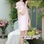 เดรสเกาหลี พร้อมส่ง ชุดเดรส ผ้าเครปโทนสีชมพูอ่อน thumbnail 7