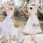 เดรสเกาหลี พร้อมส่ง เดรสสีขาว ผ้าลูกไม้ thumbnail 3