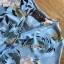 เดรสเกาหลี พร้อมส่ง ชุดเดรส ผ้าชีฟองสีฟ้าพิมพ์ลายดอกไม้ thumbnail 12