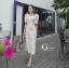 ชุดเดรสเกาหลี พร้อมส่ง Dress คอเหลี่ยม เอวสม๊อคหลัง thumbnail 7