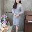 ชุดเดรสเกาหลี พร้อมส่ง Dress ลูกไม้แขนชีฟอง thumbnail 4