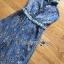 เสื้อผ้าเกาหลี พร้อมส่ง จัมป์สูท ผ้าพลีตสีน้ำเงิน thumbnail 18