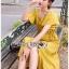 เสื้อผ้าเกาหลี พร้อมส่ง เสื้อคร็อปสั้นและกระโปรงสีเหลือง thumbnail 10