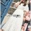 ชุดเดรสเกาหลี พร้อมส่ง เดรสผ้าคอตตอนสีขาวฉลุลาย thumbnail 10