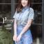 เสื้อผ้าเกาหลี พร้อมส่ง เสื้อคอปก+กก.ขาสั้นพิมพ์ลาย thumbnail 8