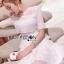 เดรสเกาหลี พร้อมส่ง เดรสผ้าลูกไม้ สีขาวตกแต่งเลเยอร์ thumbnail 8