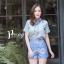 เสื้อผ้าเกาหลี พร้อมส่ง เสื้อคอปก+กก.ขาสั้นพิมพ์ลาย thumbnail 9