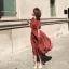 เดรสเกาหลี พร้อมส่ง Dress ผ้าซาติน thumbnail 11