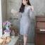 ชุดเดรสเกาหลี พร้อมส่ง Dress ลูกไม้แขนชีฟอง thumbnail 5