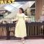 ชุดเดรสเกาหลี พร้อมส่ง แม็กซี่เดรส ลูกไม้ สีเหลือง thumbnail 5