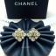 พร้อมส่ง ต่างหู Chanel งานเพชร CZ แท้ thumbnail 4