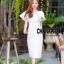 เดรสเกาหลี พร้อมส่ง Maxi dress คอวี thumbnail 1