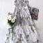 ชุดเดรสเกาหลี พร้อมส่ง เดรสยาว ปักลายดอกไม้ลายซากุระ thumbnail 17