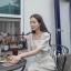 ชุดเดรสเกาหลี พร้อมส่ง Dress คอเหลี่ยม เอวสม๊อคหลัง thumbnail 10