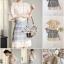 เสื้อผ้าเกาหลี พร้อมส่ง เสื้อทอลายลูกไม้แบบโปร่ง thumbnail 2