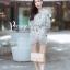 เสื้อผ้าเกาหลี พร้อมส่ง จั๊มสูท ผ้าปักลายลูกไม้แต่งระบายอก thumbnail 4