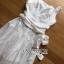 ชุดเดรสเกาหลี พร้อมส่ง เดรสผ้าคอตตอนสีขาวฉลุลาย thumbnail 17