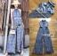 เสื้อผ้าเกาหลี พร้อมส่ง จัมป์สูท ผ้าพลีตสีน้ำเงิน thumbnail 17